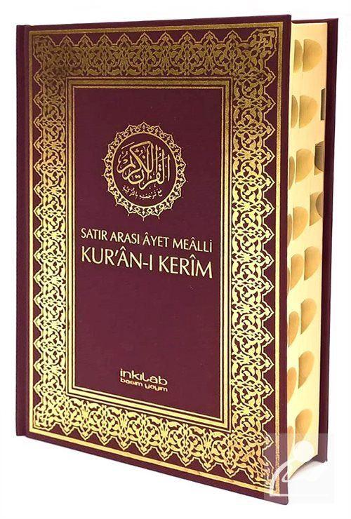 Satır Arası Ayet Mealli Kur'an-ı Kerim (Ciltli Rahle Boy)
