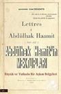 Abdülhak Hamit'in Mektupları