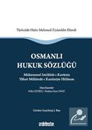 Osmanlı Hukuk Sözlüğü