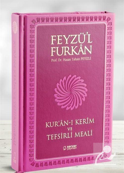 Feyzü'l Furkan Kur'an-ı Kerim ve Tefsirli Meali (Büyük Boy - Mushaf ve Meal - Mıklepli) İtalyan Termo Kapak