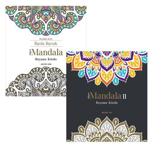 Süper Mandala 1-2  Büyüklere Boyama Kitabı 2 Kitap set
