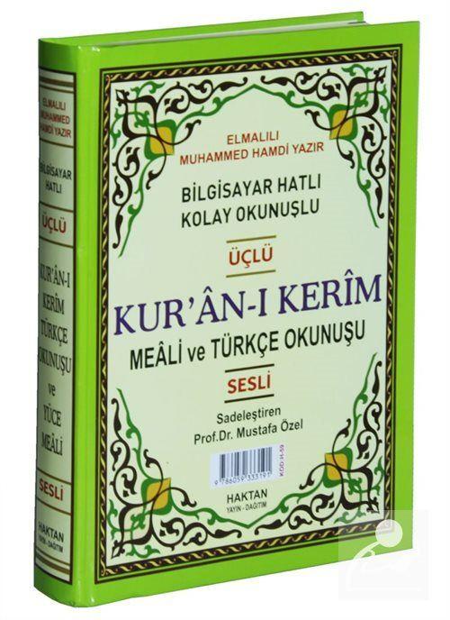 Kur'an-ı Kerim ve Türkçe Okunuşlu Üçlü Meal (Cami Boy) Kod: H-60)