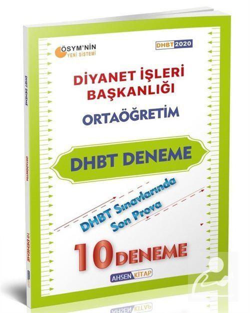 DHBT Ortaoğretim Deneme 10'lu Tek Kitap
