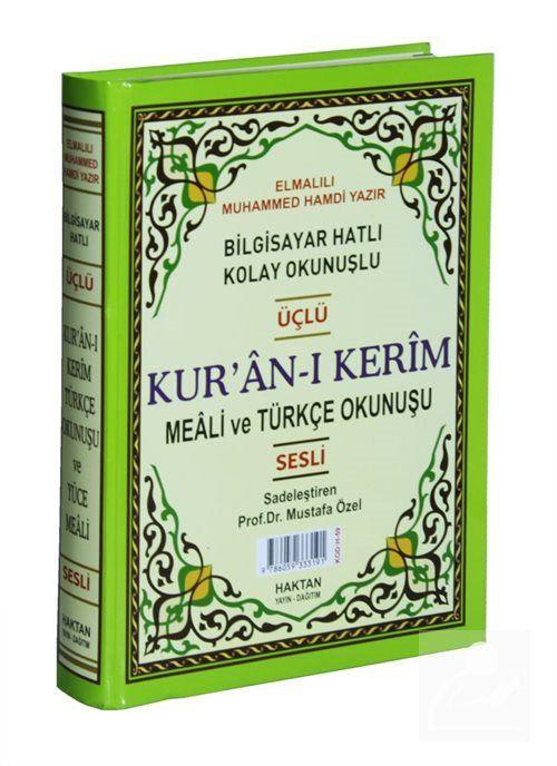 Kur'an-ı Kerim ve Türkçe Okunuşlu Üçlü Meal (Rahle Boy, Kod: H-59)