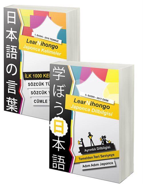 LearNihongo Japonca Kelimeler ve Dilbilgisi 2 Kitap Set