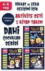 Dahi Çocuklar Aktivite Seti 4-5 Yaş 3 Kitap Takım