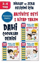 Dahi Çocuklar Aktivite Seti 3-4 Yaş 3 Kitap Takım