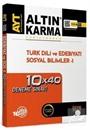 AYT Türk Dili ve Edebiyatı Sosyal Bilimler 1 10x40 Deneme Sınavı