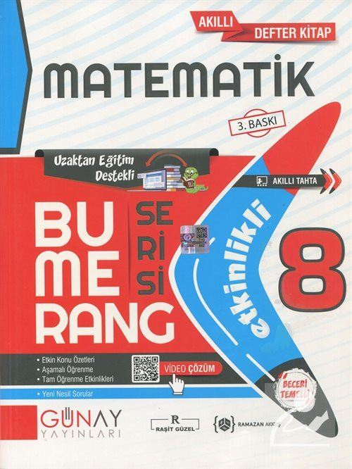 Bumerang Serisi - 8. Sınıf Etkinlikli Matematik Soru Bankası