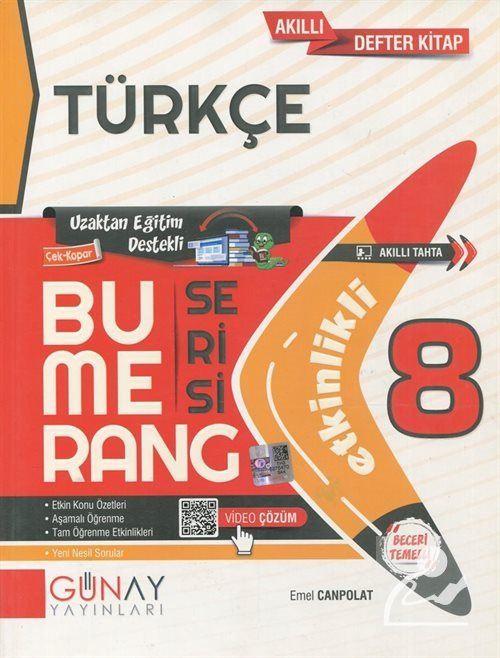 Bumerang Serisi - 8. Sınıf Etkinlikli Türkçe Soru Bankası