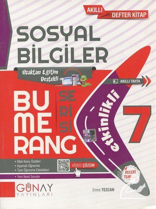 Bumerang Serisi - 7. Sınıf Etkinlikli Sosyal Bilgiler Soru Bankası