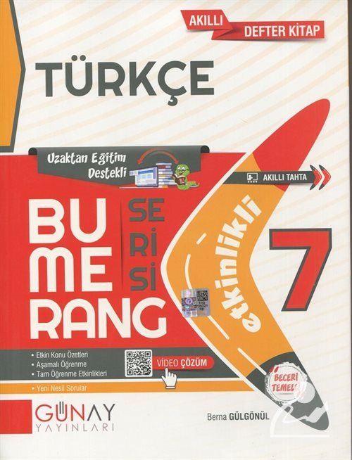 Bumerang Serisi - 7. Sınıf Etkinlikli Türkçe Soru Bankası