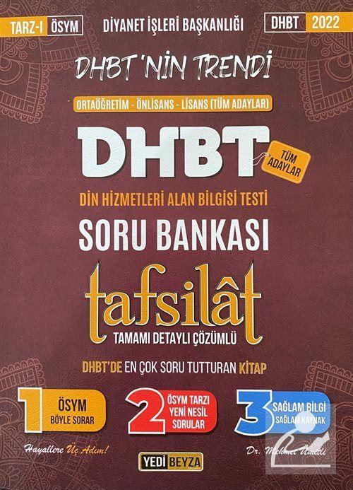 2022 DHBT Tafsilat Tamamı Çözümlü Soru Bankası