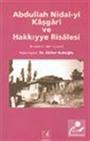 Abdullah Nidai-yi Kaşgari ve Hakkıyye Risalesi