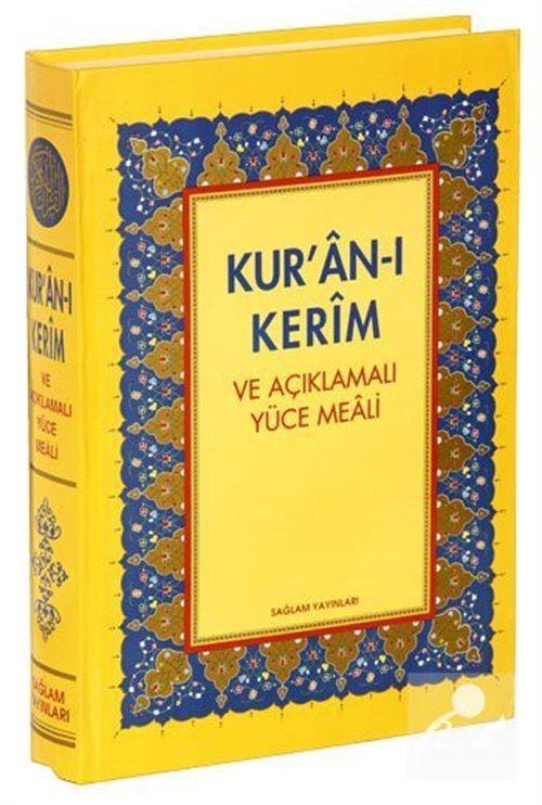 Kur'an-ı Kerim ve Açıklamalı Yüce Meali Orta boy 3lü meal