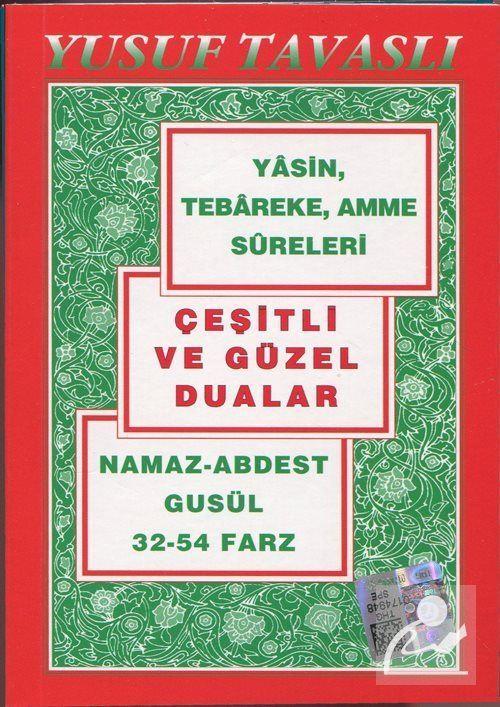 Namaz, Abdest, Gusül, 32-54 Farz (Cep Kod: C02)