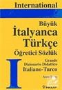 International İtalyanca-Türkçe Büyük Sözlük