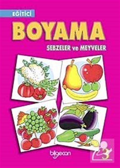 Egitici Boyama Sebzeler Ve Meyveler 3 30 Indirimli
