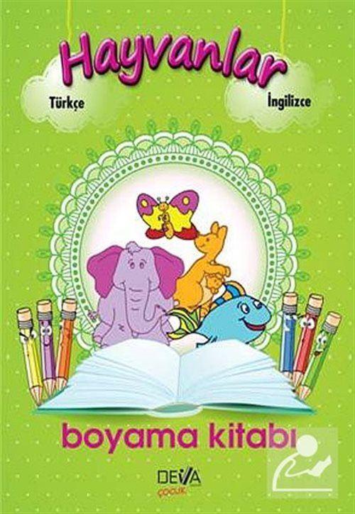 Hayvanlar Boyama Kitabi Turkce Ingilizce 30 Indirimli