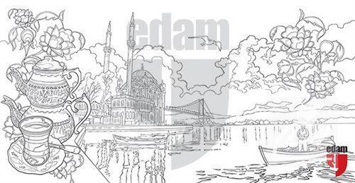 Istanbul Tablo Boyama Serisi 4 Ortakoy 30 Indirimli